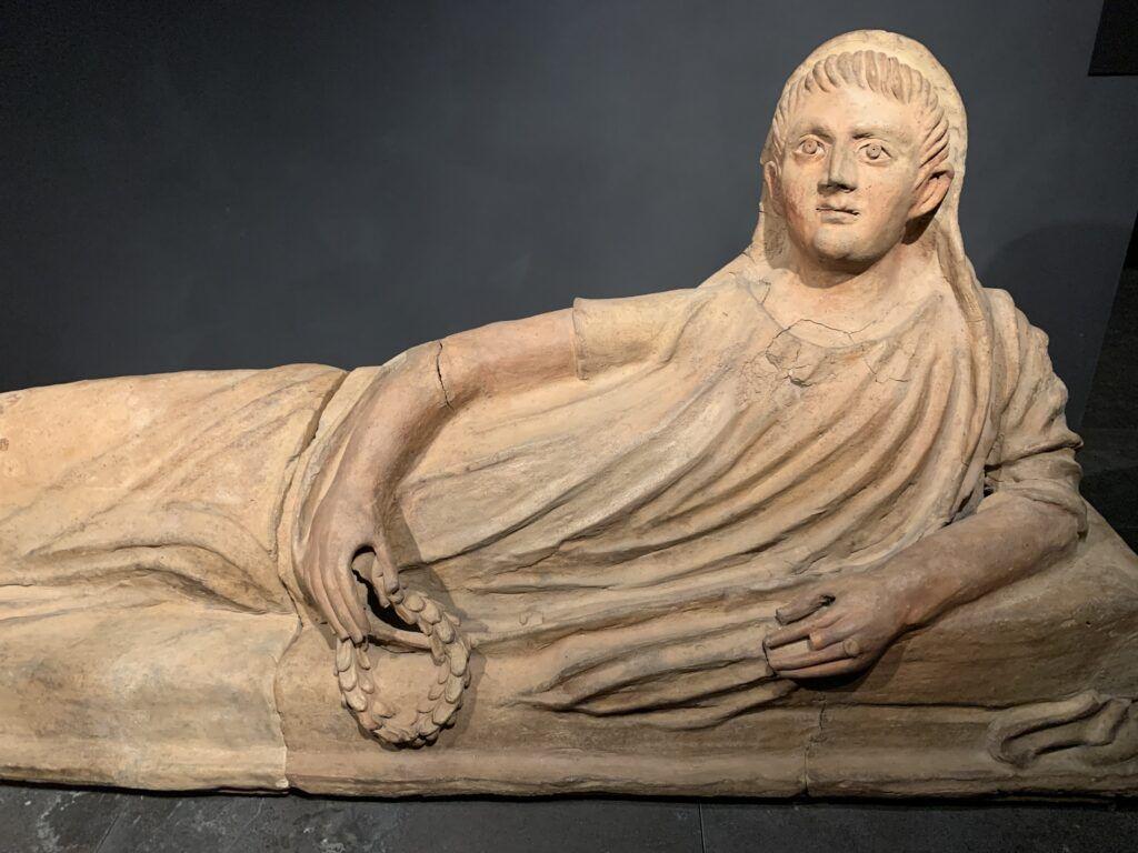Muzeum Narodowe Galeria Sztuki Starożytnej. Pokrywa sarkofagu