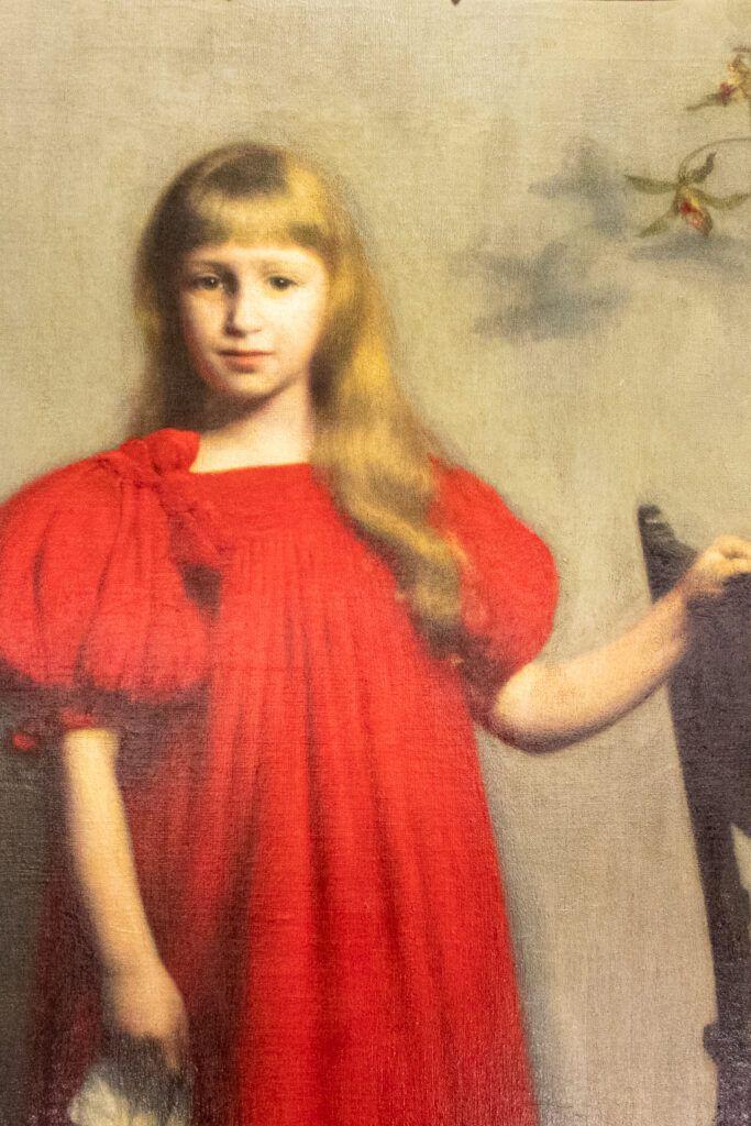 Obraz Pankiewicza Dziewczynka w czerwonej sukience