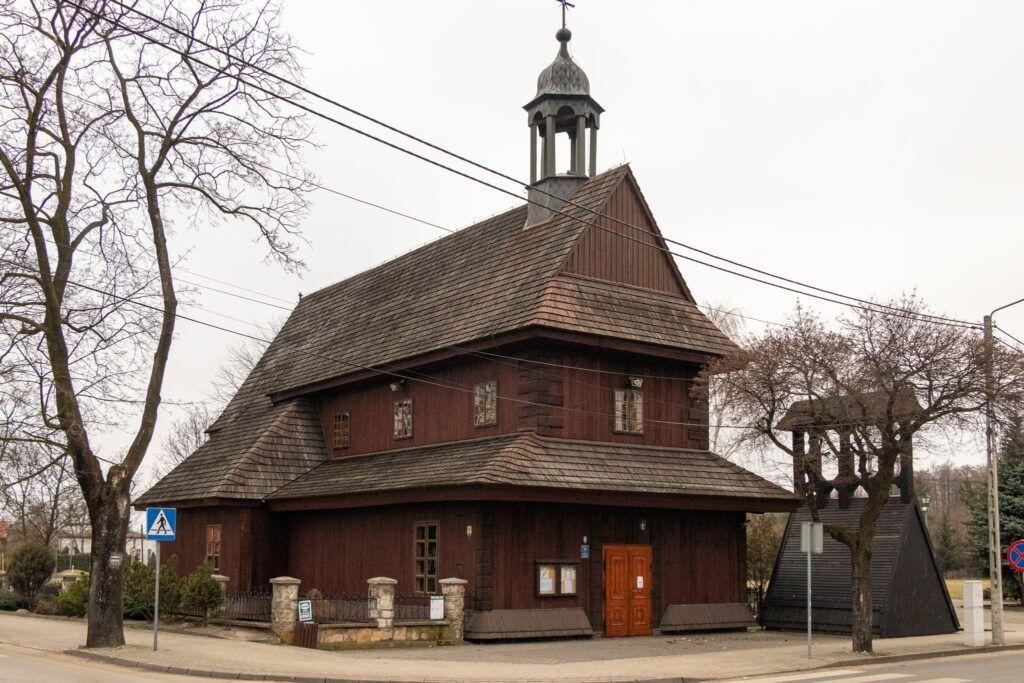 Warta i Łask. Drewniany kościół w Łasku