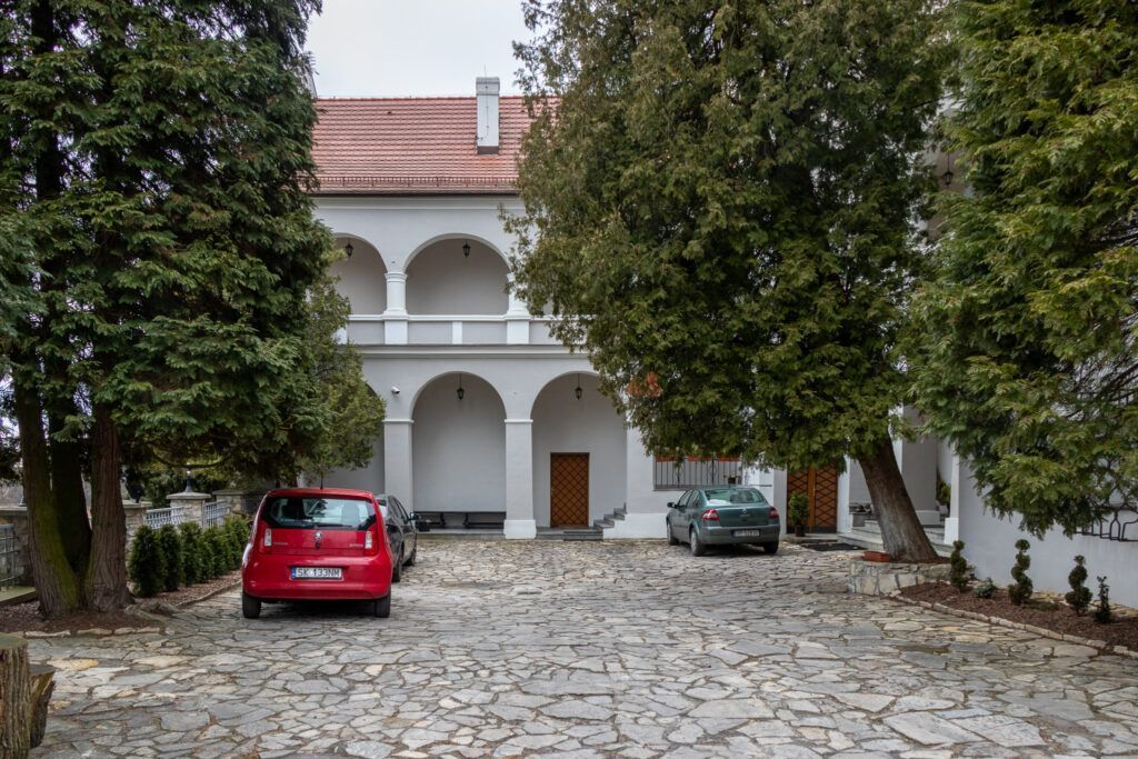 Zamek w Rogowie Opolskim, dziedziniec
