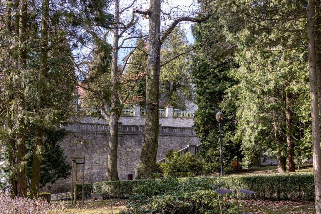 Zamek w Rogowie Opolskim, park