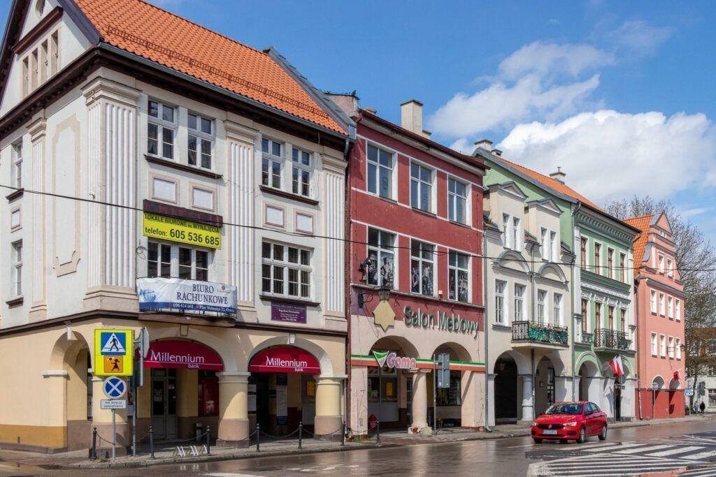 Orneta. Stylowe kamienice w Rynku