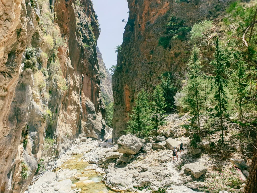 Wąwóz Samaria. Najwęższe miejsce