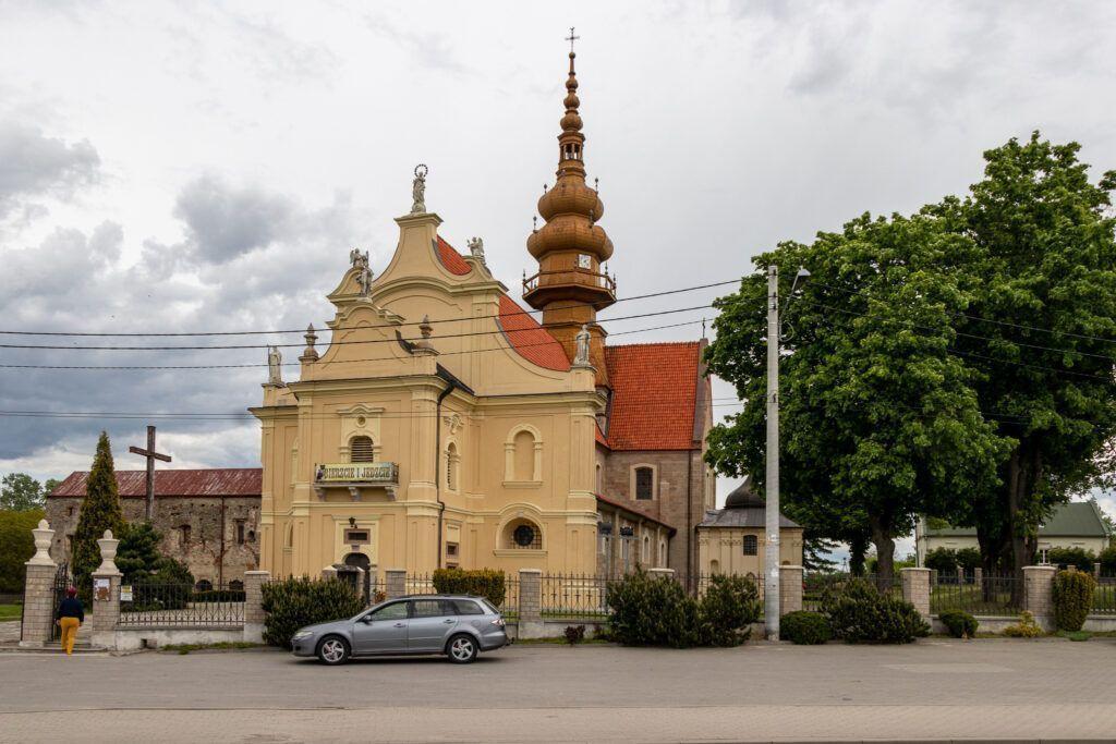 Koprzywnica. Kościół św. Floriana, widok od frontu