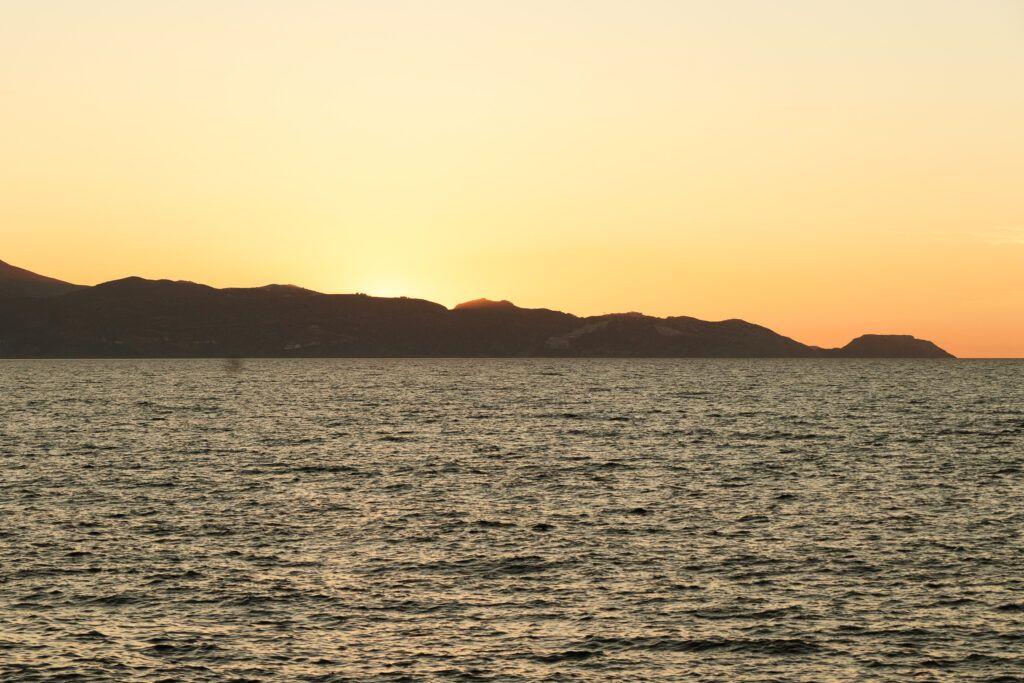 Heraklion. Zachód słońca na dobranoc