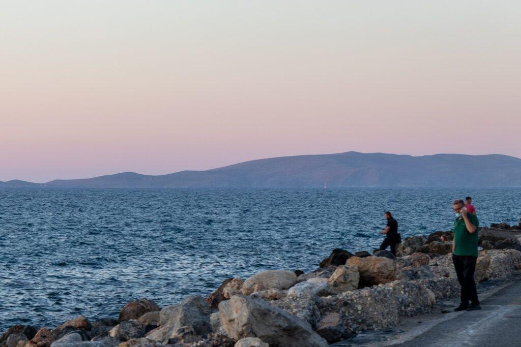 Heraklion. Zachód słońca nad morzem