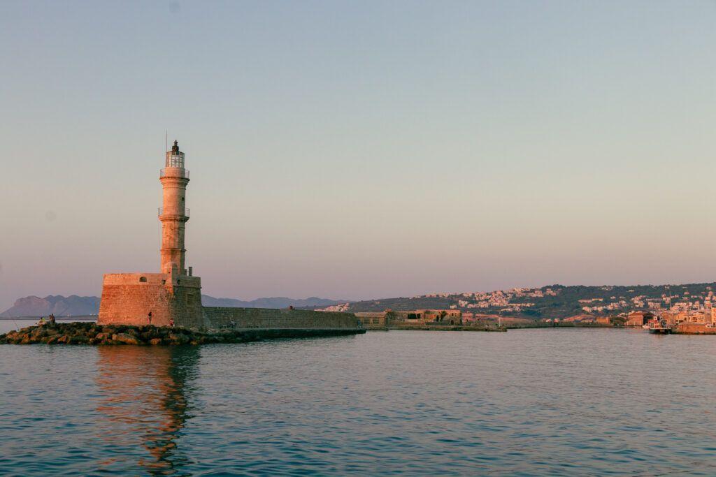 Chania port. Latarnia morska