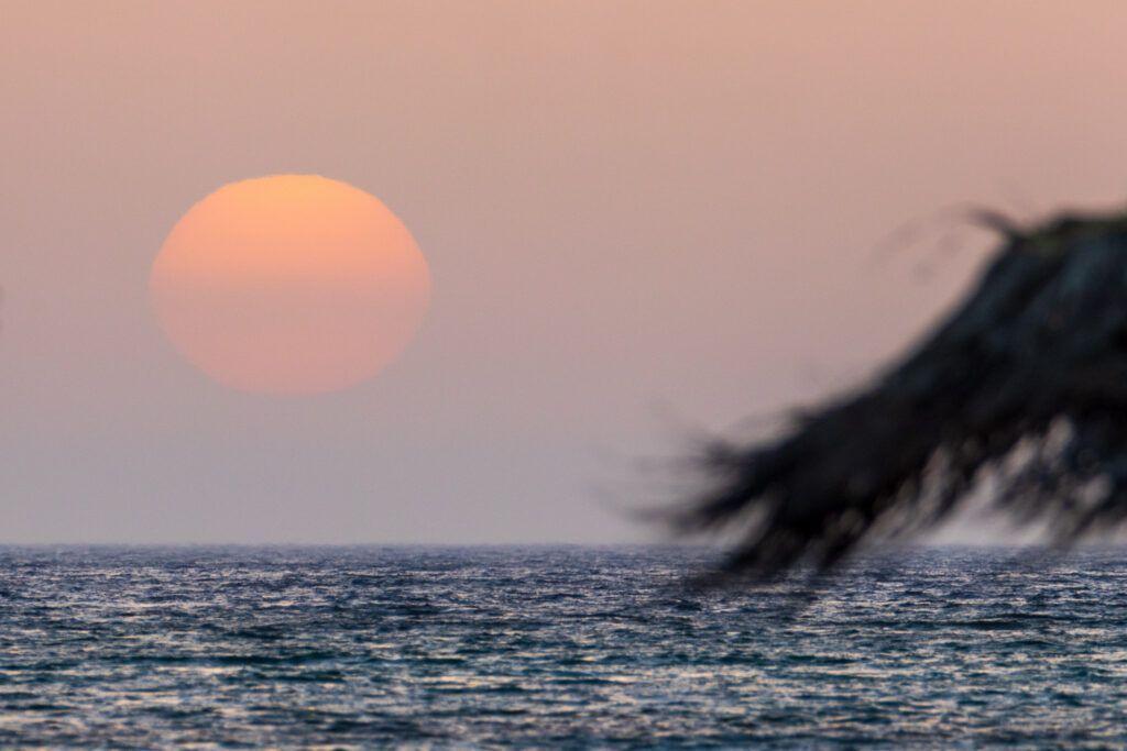 Elafonisi. Zachód słońca
