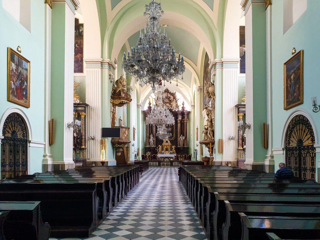Cieszyn. Wnętrze kościoła Marii Magdaleny