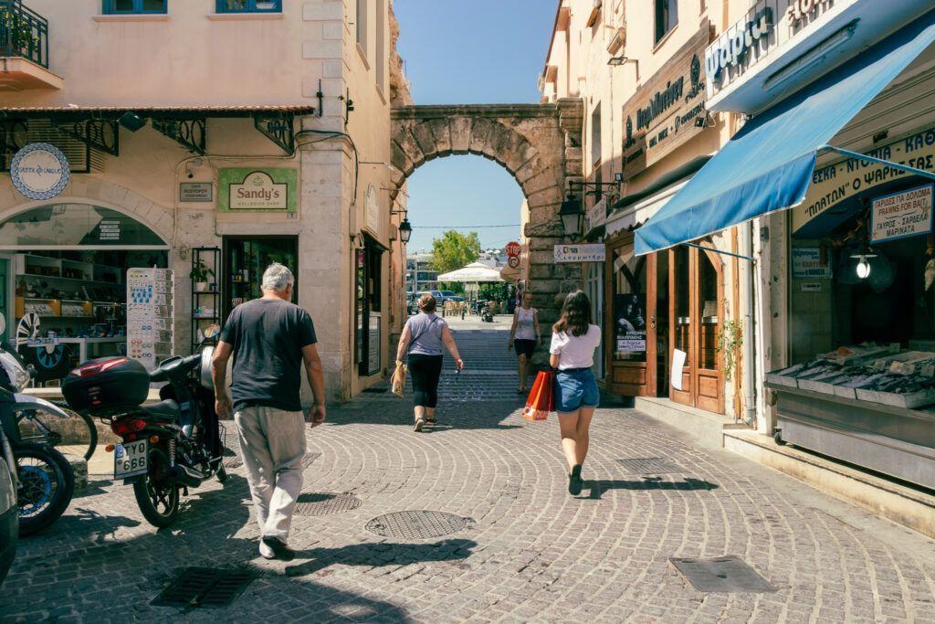 Rethymno, Retimno.  Brama od strony Starego Miasta